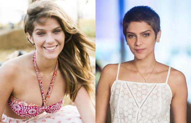 Com uma personagem vítima de leucemia, em 'A lei do amor', Isabella Santoni deixou os cabelos longos para trás (Foto: TV Globo)
