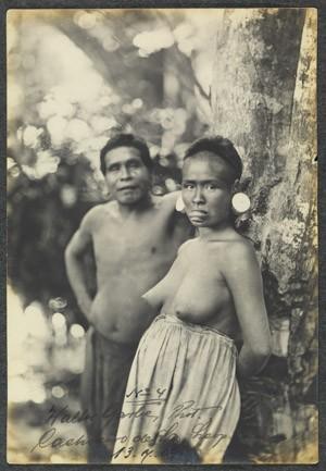 Foto de 1909 mostra índios Botocudos em Santa Leopoldina, no Espírito Santo (Foto: Walter Garb/Acervo BN)