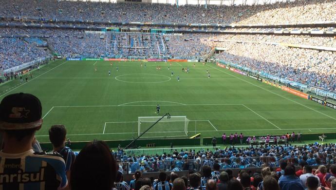 Arena do Grêmio torcida gremistas Gre-Nal (Foto: Eduardo Moura/GloboEsporte.com)