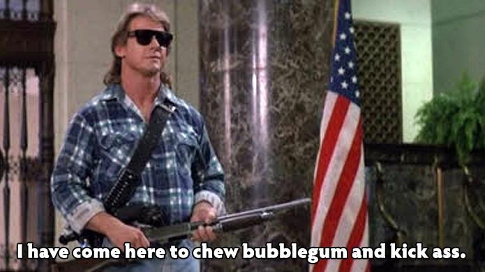 Uma das frases mais famosas de Duke Nukem veio do filme Eles Vivem de John Carpenter (Foto: prisonplanet.com)