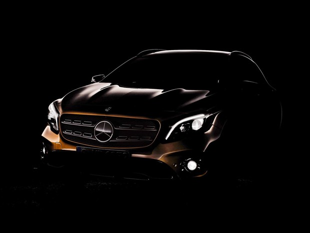 Teaser do Mercedes-Benz GLA reestilizado (Foto: Divulgação)
