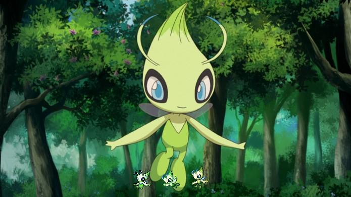 Com uma aura semelhante à de Mew, Celebi foi um dos lendários importantes de Pokémon Gold & Silver (Foto: Reprodução/Rafael Monteiro)