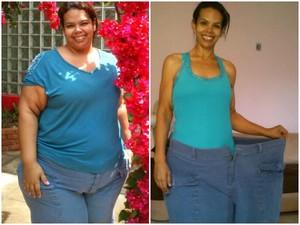 """Patrícia Geber, de 41 anos, perdeu 82 quilos. """"Perdi metade de mim"""". (Foto: Arquivo Pessoal/Patrícia Geber)"""