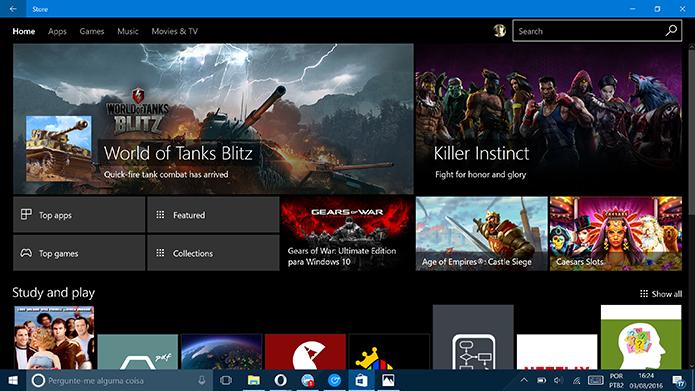 Windows 10 ganhou tema escuro na última atualização do sistema (Foto: Reprodução/Elson de Souza)