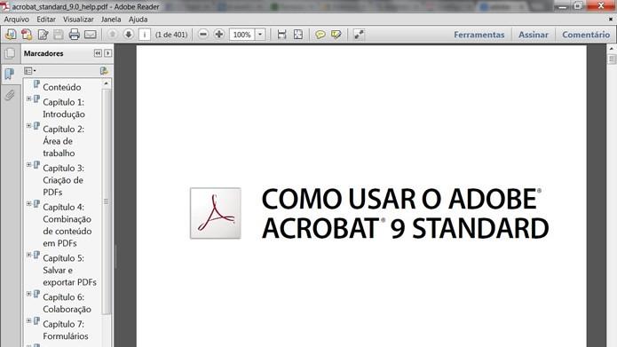 O PDF será aberto normalmente, mesmo com o PC offline  (Foto: Reprodução/Daniel Ribeiro)