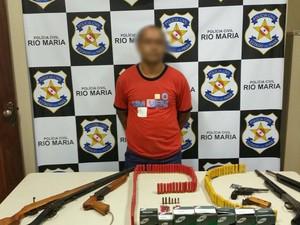 Armeiro Armas Munições Rio Maria (Foto: Divulgação/Polícia Civil)