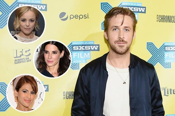 Ryan Gosling, Rachel McAdams, Sandra Bullock e Eva Mendes (Foto: Getty Images)