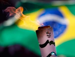 Tour da Tocha Olímpica Brasil bandeira (Foto: Rio 2016 / Fernando Soutello)