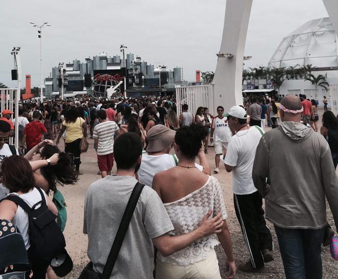 Portões abertos para o terceiro dia de Rock in Rio (Foto: Gshow)