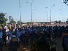 Forças policiais chegam a garimpo ilegal em MT para fazer desocupação