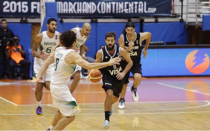 Brasil x Argentina, basquete, Copa Tuto Marchand (Foto: José Jiménez Tirado/FIBA Americas)
