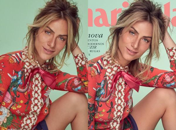 Antes e depois de Giovanna Ewbank, na capa da Marie Claire de maio (Foto: Gustavo Zylbersztajn (SD MGMT))