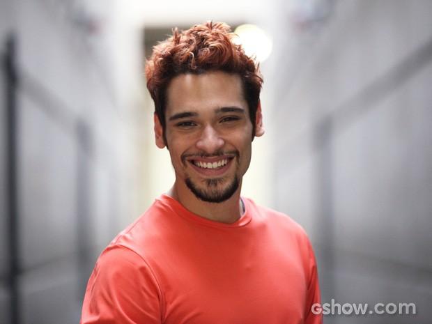 Bruno só descobriu depois que o pai também faria parte do elenco (Foto: Carol Caminha/TV Globo)