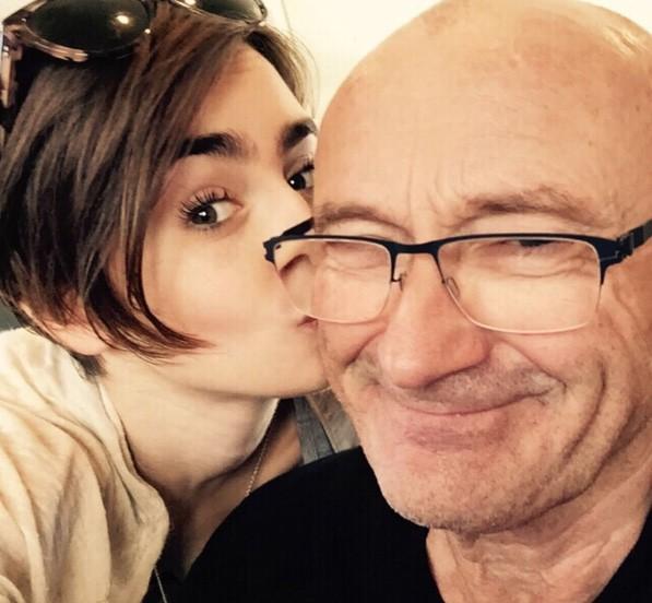 Lily Collins e Phil Collins (Foto: Instagram)