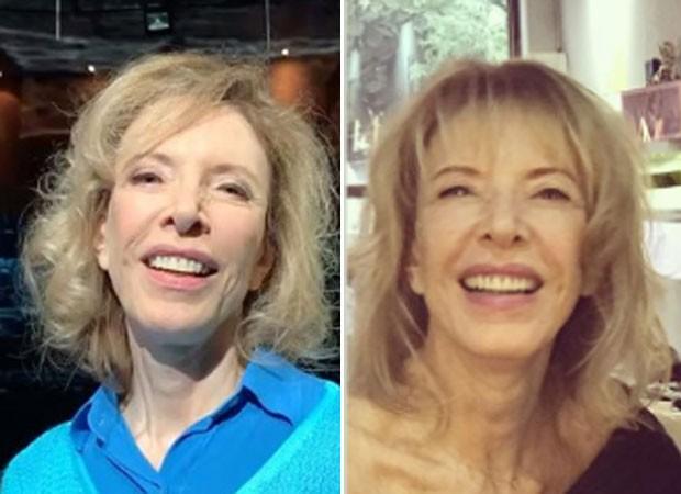 Marília Gabriela antes e depois (Foto: Reprodução)