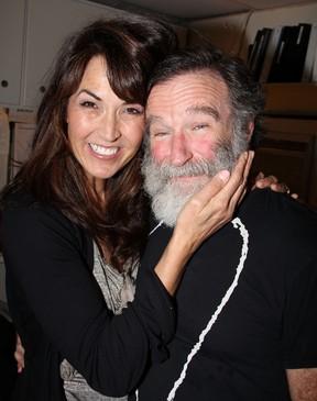 Susan Schneider e Robin Williams (Foto: Agência/ Getty Images)