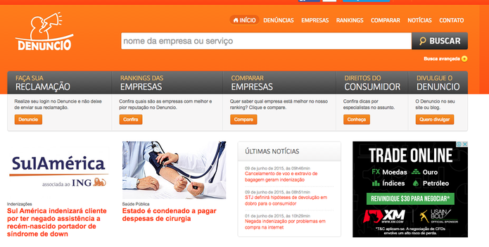 Denuncio.com.br (Foto: Reprodução/Luana Marfim)