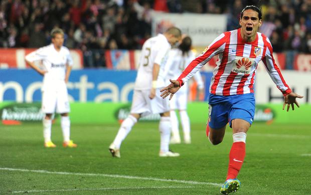 Falcao García Atlético de Madri Real Madrid (Foto: AFP)
