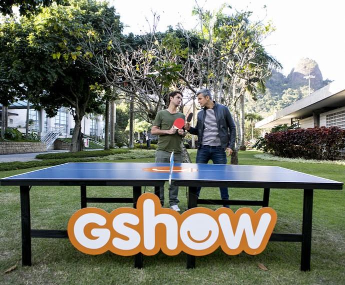 Duelo no ping-pong (Foto: Ellen Soares/Gshow)