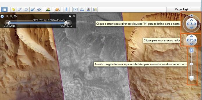 O controle das imagens pode ser feito pelas ferramentas no topo direito da tela (Foto: Reprodução/Barbara Mannara)