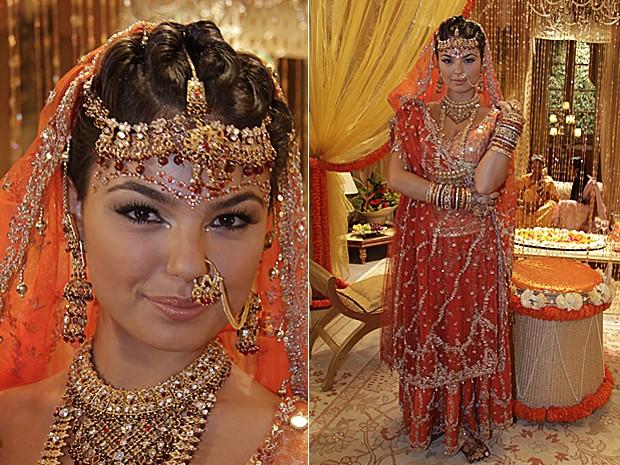 Em Caminho das Índias, Camila se casa com Ravi (Caio Blat) (Foto: Isac Luz / TV Globo)
