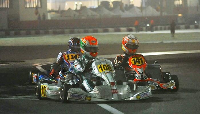 Gianluca Petecof no Mundial de Kart