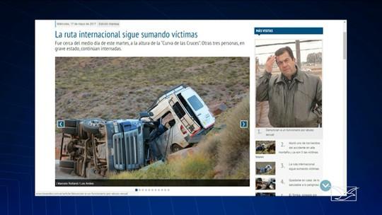 Turistas maranhenses morrem em acidente na Argentina