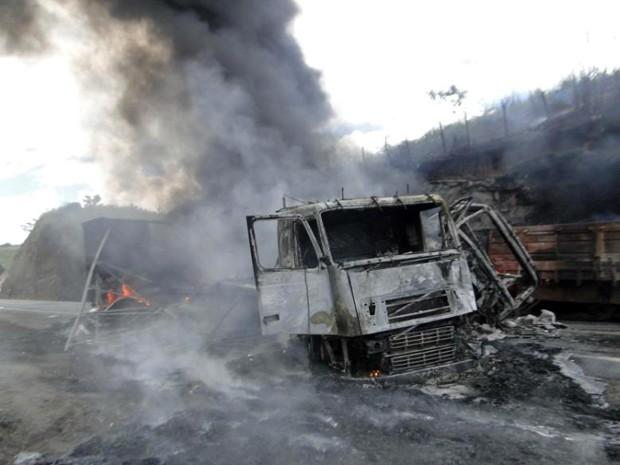 Acidente na Bahia (Foto: Marcos Souza Frahm/Blog Marcos Frahm)