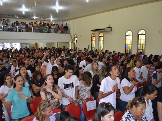 Cerca de 600 jovens participaram do seminário no Amapá (Foto: Abinoan Santiago/G1)