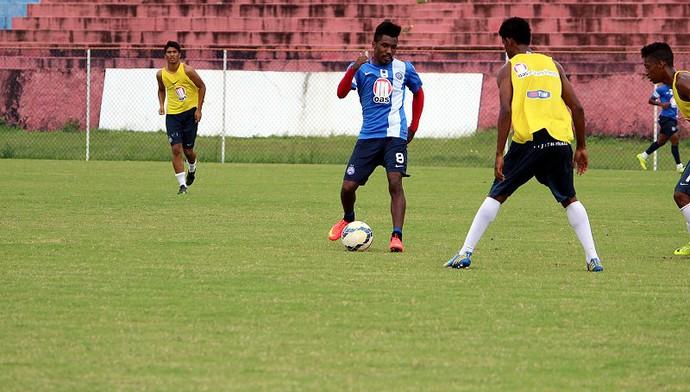 Rhayner durante coletivo do Bahia contra o time de juniores (Foto: Divulgação/E.C. Bahia)