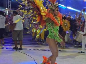 Saia de destaque da Tradição Serrana caiu (Foto: Juliana Borges/ G1)