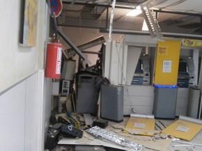 Arrombamento de caixa eletrônico foi no Banco do Brasil de João Alfredo, no Agreste (Foto: Benízio Filho/ Reprodução WhatssApp)