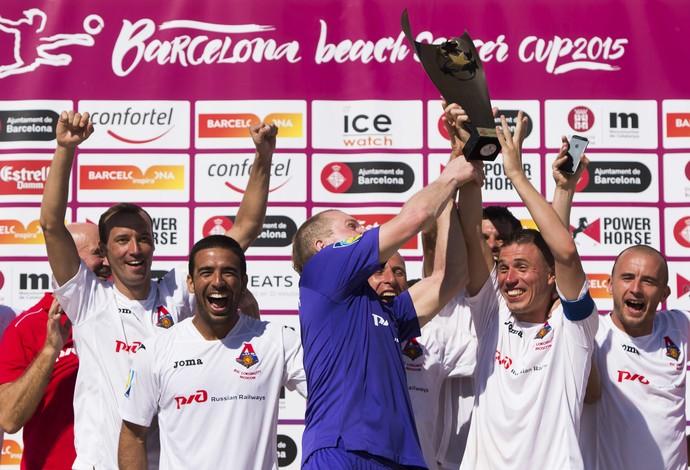 Flamengo perde para o Lokomotiv na final do Torneio Internacional de Barcelona, na Espanha (Foto: Divulgação/BSWW)