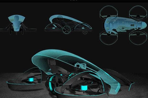 Conheça o Skydrive, carro voador que poderá ser lançado em 2020 (Foto: Reprodução Cartivator)
