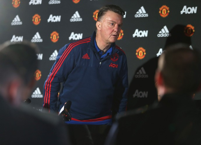 Van Gaal coletiva Manchester United (Foto: Getty Images)