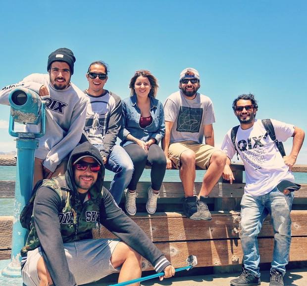 Caio Castro com os amigos em São Francisco, na Califórnia (Foto: Reprodução/Instagram)