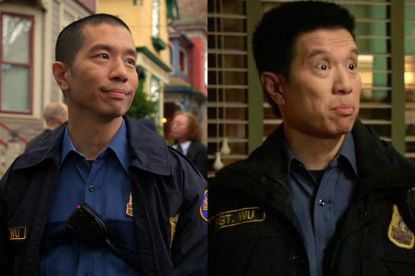 Wu no primeiro e no 100° episódio (Foto: Universal Channel)