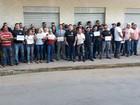 Policiais civis fazem manifestação contra PLP 257 em Montes Claros