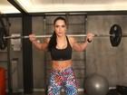 Graciella Carvalho mostra treino para 'secar' seis quilos