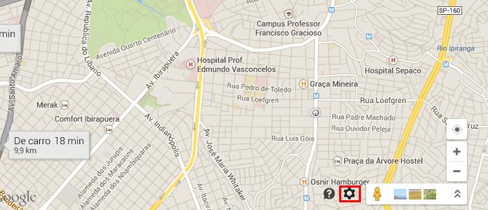 Abra as opções do Maps (Foto: Reprodução/Paulo Alves)