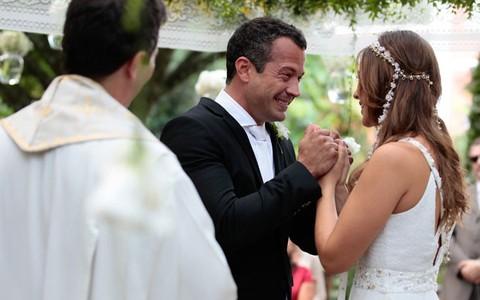 Paloma e Bruno renovam os votos e têm um lindo filho (Pedro Curi/TV Globo)