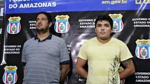 Suspeitos de desviar cargas são presos (Gabriel Machado/G1 AM)