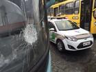 Ônibus são apedrejados em Blumenau no 12º dia de greve