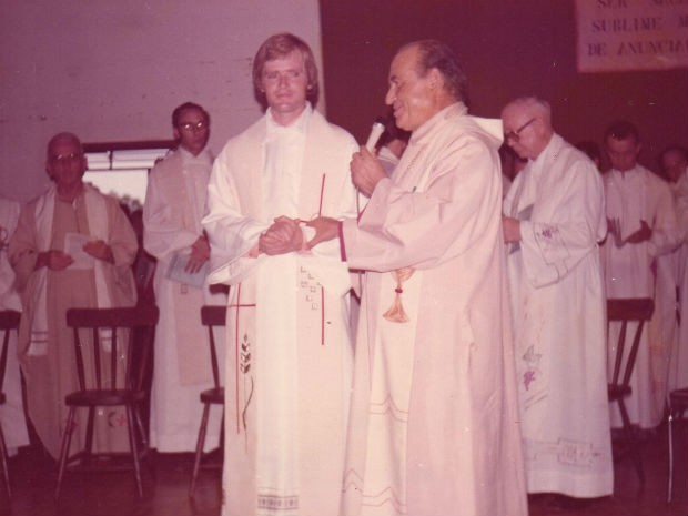 Dom Odilo foi ordenado padre em Toledo, em 1976 (Foto: Arquivo pessoal)