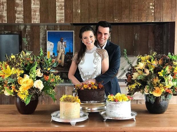 Milena e Pedro: casamento (Foto: Reprodução Instagram)