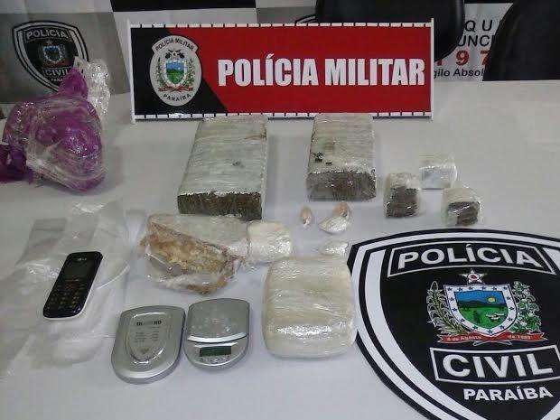 3kg de maconha foram apreendidos com suspeito de chefiar tráfico em Catolé do Rocha (Foto: Major Douglas Araújo/PM)
