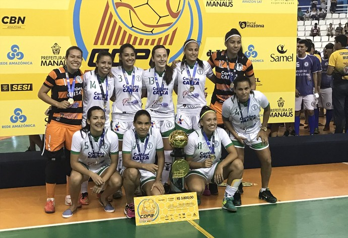 Iranduba campeão amazonense de futsal feminino (Foto: Patrick Marques)