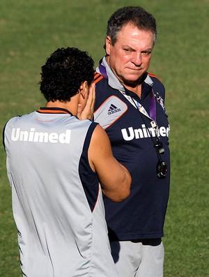 Abel Braga Fred treino Fluminense (Foto: Fernando Cazaes / Photocamera)
