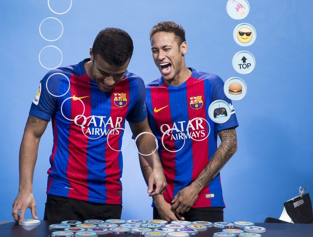 Neymar Rafinha Alcântara Barcelona emoji
