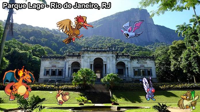 Pokémons do tipo Voador podem ser encontrados em certos parques em Pokémon Go (Foto: Reprodução/Rafael Monteiro)